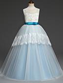 hesapli Elbiseler-Çocuklar Genç Kız Temel Solid Çiçekli Kolsuz Elbise Beyaz