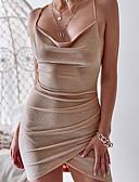 tanie Sukienki sylwestrowe-Damskie Elegancja Szczupła Spodnie - Solidne kolory Odkryte plecy Wysoka talia Srebrny / Mini / Pasek / Święto / Seksowny