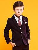 ราคาถูก ชุดสูทสำหรับเด็ก-องุ่น / สีน้ำเงินเข้ม ฝ้าย / POLY / วิสโคส แหวนสูทถือ - 4 ชิ้น รวม แจ๊คเก็ต / เสื้อกั๊ก / กางเกง