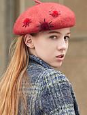 tanie Damskie czapki i kapelusze-Damskie Vintage / Impreza Beanie / Beret / Melonik Solidne kolory