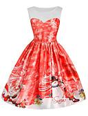 cheap Women's Dresses-Women's Street chic / Elegant A Line Dress - Geometric Print