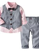Χαμηλού Κόστους Σετ ρούχων για αγόρια-Νήπιο Αγορίστικα Βασικό Μονόχρωμο Μακρυμάνικο Βαμβάκι / Πολυεστέρας Σετ Ρούχων Ανθισμένο Ροζ