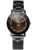 cheap Quartz Watches-Couple's Wrist Watch Quartz Chronograph Casual Watch Lovely Stainless Steel Band Analog Bangle Minimalist Black - Black Beige One Year Battery Life