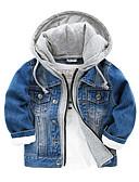 povoljno Džemperi i kardigani za djevojčice-Djeca Dječaci Osnovni Dnevno Jednobojni Dugih rukava Pamuk Jakna i kaput Plava
