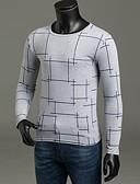 ieftine Maieu & Tricouri Bărbați-Bărbați De Bază Zvelt Pantaloni - Mată / Plisat Alb / Rotund / Manșon Lung / Primăvară / Toamnă