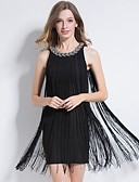 cheap Party Dresses-The Great Gatsby Vintage 1920s The Great Gatsby Costume Women's Flapper Dress Black / Red / Blue Vintage Cosplay Party Prom Sleeveless Mini
