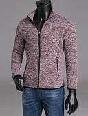abordables Camisas de Hombre-Hombre Delgado Pantalones - Un Color Negro / Escote Redondo / Manga Larga