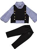 billige Tøjsæt til piger-Børn Pige Basale Ensfarvet / Stribet Langærmet Normal Normal Polyester Tøjsæt Sort