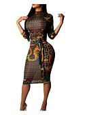 olcso Női ruhák-Női Klub Ízléses Vékony Hüvely Ruha Mértani Térdig érő