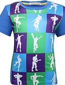 billige Topper til gutter-Baby Gutt Grunnleggende Fargeblokk Kortermet Polyester T-skjorte Blå