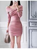 tanie Sukienki do biura-damska wychodząca ze szczupłej sukienki typu bodycon mini na ramieniu