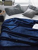 זול חולצות פולו לגברים-שמיכת פליז-קורל / רך במיוחד, מובלט אחיד פּוֹלִיאֶסטֶר סמיך