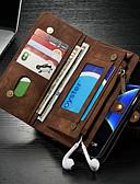 halpa Puhelimen kuoret-Etui Käyttötarkoitus Samsung Galaxy S7 edge Lomapkko / Korttikotelo / Tuella Suojakuori Yhtenäinen Kova PU-nahka