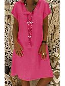 رخيصةأون فساتين للنساء-فستان نسائي قياس كبير كلاسيكي عصري أساسي طول الركبة V رقبة