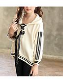 levne Dívčí topy-Děti Dívčí Základní Denní Jednobarevné Dlouhý rukáv Standardní Bavlna / Polyester Mikinky Béžová