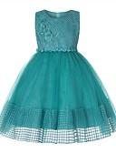 お買い得  女児 ドレス-子供 女の子 甘い 日常 ソリッド ノースリーブ ドレス ピンク