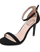 povoljno Bluza-Žene Brušena koža / PU Ljeto Sandale Stiletto potpetica Crn / Crvena / Badem