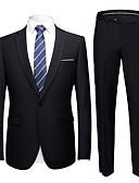 זול חליפות-טוקסידו גזרה מחוייטת פתוח Single Breasted One-button פוליאסטר אחיד