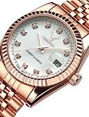 cheap Steel Band Watches-Women's Luxury Watches Wrist Watch Diamond Watch Japanese Quartz Stainless Steel Silver / Rose Gold 30 m Water Resistant / Waterproof Calendar / date / day Chronograph Analog Ladies Bangle Elegant -