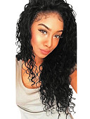 cheap Robes & Sleepwear-Human Hair Glueless Lace Front Lace Front Wig with Baby Hair style Brazilian Hair Deep Wave Wig 130% 250% Density Dark Roots Natural Hairline For Black Women 100% Virgin Women's Medium Length Long