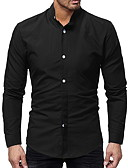 tanie Męskie koszule-Koszula Męskie Podstawowy Solidne kolory