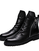 abordables Vestidos de Madrina-Hombre Los zapatos de cuero Cuero Invierno Negocios / Casual Oxfords Antideslizante Negro