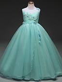 זול שמלות לבנות-שמלה ללא שרוולים אחיד / פרחוני בסיסי בנות ילדים