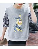 levne Dívčí mikiny-Děti Dívčí Základní Denní Jednobarevné Dlouhý rukáv Standardní Bavlna / Polyester Mikinky Šedá