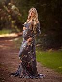 זול עליוניות-מקסי פרחוני - שמלה נדן אלגנטית בגדי ריקוד נשים