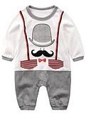 billige BabyGutterdrakter-Baby Gutt Grunnleggende Ensfarget Langermet Polyester Endelt Navyblå