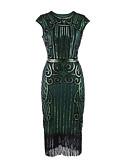 رخيصةأون فساتين حسب الطلب-عامودي جوهرة طول الساق ساتان حفلة كوكتيل فستان مع ترتر / طيات بواسطة TS Couture®
