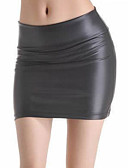 cheap Women's Skirts-Women's Basic Bodycon Skirts - Solid Colored High Waist