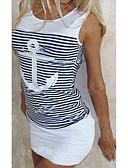 povoljno Digitalni satovi-Majica s rukavima Žene - Osnovni Dnevno Prugasti uzorak / Miks boja Slim, Dungi Plava