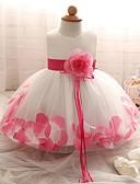 זול שמלות לבנות-שמלה ללא שרוולים פרחוני / טלאים בנות ילדים / פעוטות