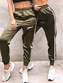hesapli Tişört-Kadın's Dışarı Çıkma Podstawowy Legging - Solid, Desen Orta Bel Beyaz Siyah Ordu Yeşili M L XL