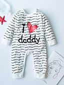 billige BabyGutterdrakter-Baby Gutt Aktiv Daglig Ensfarget / Stripet / Geometrisk Trykt mønster Langermet Bomull Endelt Svart