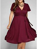 tanie Sukienki w rozmiarach plus-Damskie Podstawowy Linia A Sukienka Midi