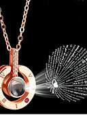 cheap Party Dresses-Women's Silver Opal Classic Charm Necklace - Steel Stainless Luxury, Dangling, Boho Cute Rose Gold 46 cm Necklace Jewelry 1pc For Going out, Valentine