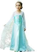 Χαμηλού Κόστους Φορέματα για κορίτσια-Elsa Στολές Ηρώων Παιδικά Κοριτσίστικα Φορέματα Mesh Χριστούγεννα Halloween Απόκριες Γιορτές / Διακοπές Μετάξι Organza Μπλε Αποκριάτικα Κοστούμια Πούλια