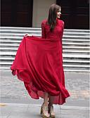 tanie Sukienki-Damskie Swing Sukienka - Solidne kolory Kołnierz stawiany Maxi
