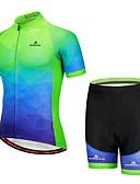preiswerte Radtrikot und Shorts / Hosen Sets-Miloto Kurzarm Fahrradtriktot mit Fahrradhosen - Marinenblau Fahhrad / Dehnbar