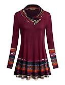 cheap Women's Coats & Trench Coats-Women's T-shirt - Color Block / Tribal Patchwork