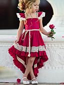 זול סטים של ביגוד לתינוקות-שמלה א-סימטרי ללא שרוולים תחרה אחיד Party סגנון רחוב בנות ילדים