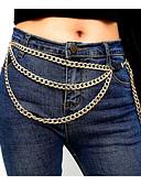 baratos Biquínis e Roupas de Banho Femininas-Mulheres Metálico / Fashion Cadeia De Cintura Sólido