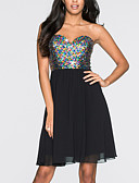 cheap Party Dresses-Women's Party / Birthday Basic Sheath Dress - Solid Colored Sequins Spring Black Gray Purple M L XL