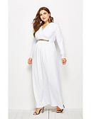 hesapli Kadın Elbiseleri-Kadın's Dar Çan Elbise V Yaka Midi / Sexy