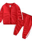 povoljno Kompletići za dječake-Dijete Dječaci Ležerne prilike / Osnovni Dnevno / Sport Jednobojni Dugih rukava Regularna Normalne dužine Pamuk Komplet odjeće Blushing Pink / Dijete koje je tek prohodalo