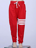 cheap Girls' Pants & Leggings-Kids Girls' Basic Daily Solid Colored Polyester Pants Red