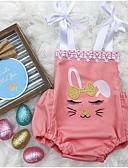 billige Babytopper-Baby Jente Gatemote Daglig Trykt mønster Ermeløs Polyester Body Rosa