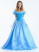 preiswerte Unterröcke für Hochzeitskleider-Cinderella Cosplay Kostüme Erwachsene Damen Kleider Weihnachten Halloween Karneval Fest / Feiertage Satin / Tüll Baumwolle Blau Karneval Kostüme Prinzessin
